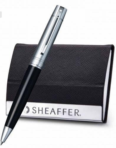 9314 Ballpoint Pen With Business Card Holder