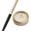 9475 Ballpoint Pen With Gold Chrome Table Clock2