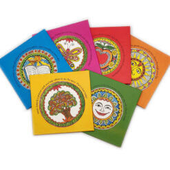 madhubani colour coasters