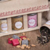 Jute Bag with Tea Tins, Chocolates _ Dry Fruits open