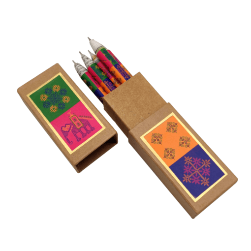 Pen Box (set of 5 pens) – Kasuti Theme