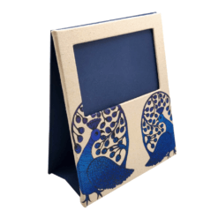 Picture Frame In Fabric (Top Window) - Gond Theme