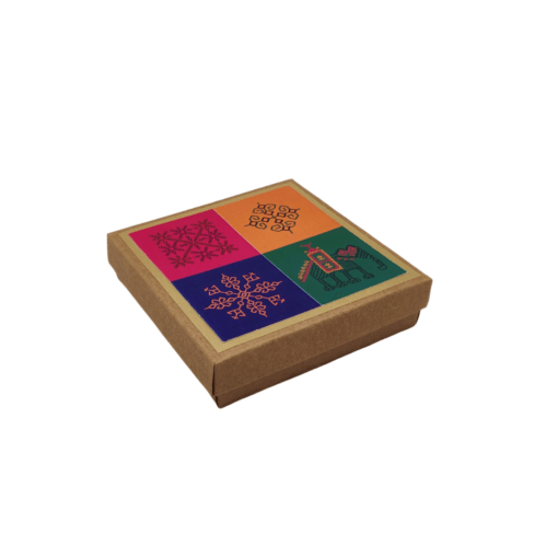 Coasters (set of 6) - Kasuti Theme