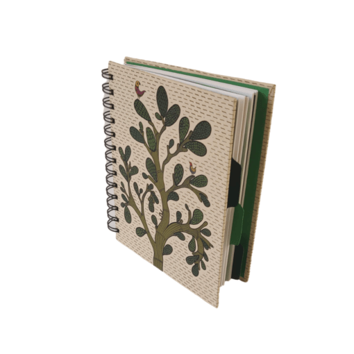 Notebook-Spiral-With-Separators-–-Gond-Theme-1