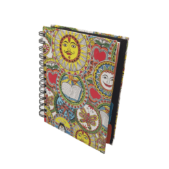 Notebook (Spiral) With Separators – Madhubani Vibrant Theme