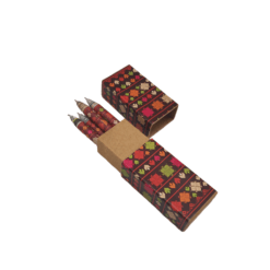 Pen Box (set of 5 pens) - Phulkari Theme